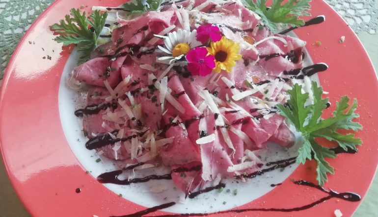 Carpaccio di roastbeef all'inglese